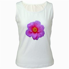 Beauty Violet Flower Photo Print Women s White Tank Top by dflcprintsclothing