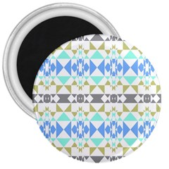 Multicolored Geometric Pattern 3  Magnets by dflcprintsclothing