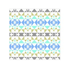 Multicolored Geometric Pattern Small Satin Scarf (square) by dflcprintsclothing
