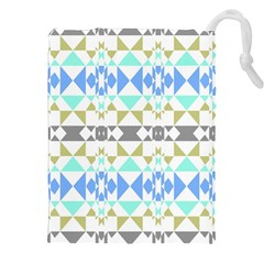 Multicolored Geometric Pattern Drawstring Pouch (2xl)