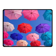 Rainbow Umbrella Fleece Blanket (small) by Sparkle