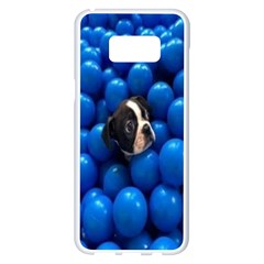 Cute Balls Puppy Samsung Galaxy S8 Plus White Seamless Case