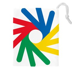 Logo Of Deaflympics Drawstring Pouch (5xl)