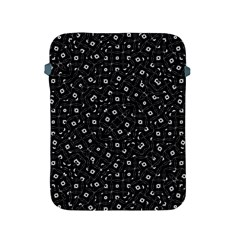 Black And White Intricate Geometric Print Apple Ipad 2/3/4 Protective Soft Cases