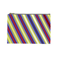 Colorful Strips Cosmetic Bag (large)