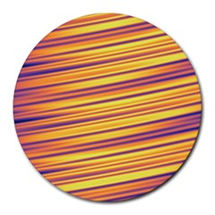 Colorful Strips Round Mousepads