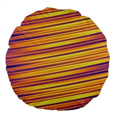 Colorful Strips Large 18  Premium Round Cushions