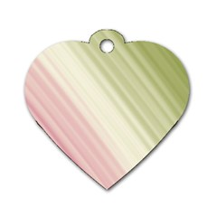 Pink Green Dog Tag Heart (one Side)
