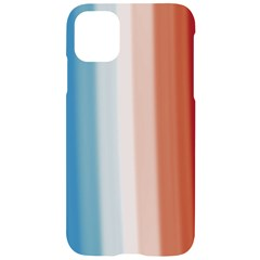 Blue,white Red Iphone 11 Black Uv Print Case