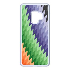 Zigzag Waves Samsung Galaxy S9 Seamless Case(white) by Sparkle