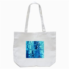 Blue Waves Tote Bag (white)