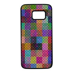 Random Colors Hexagon Samsung Galaxy S7 Black Seamless Case