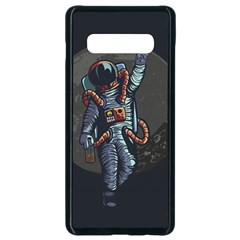 Illustration Drunk Astronaut Samsung Galaxy S10 Plus Seamless Case (black) by Vaneshart