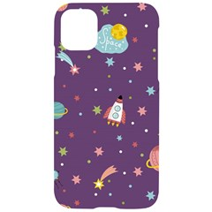 Space Travels Seamless Pattern Vector Cartoon Iphone 11 Black Uv Print Case