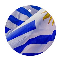 Uruguay Flags Waving Ornament (round) by dflcprintsclothing