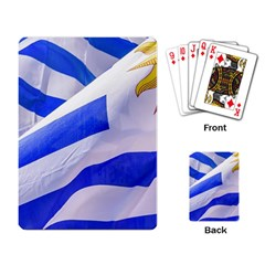 Uruguay Flags Waving Playing Cards Single Design (rectangle)