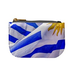 Uruguay Flags Waving Mini Coin Purse by dflcprintsclothing