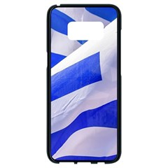 Uruguay Flags Waving Samsung Galaxy S8 Black Seamless Case by dflcprintsclothing