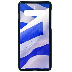 Uruguay Flags Waving Samsung Galaxy S10 Seamless Case(black) by dflcprintsclothing
