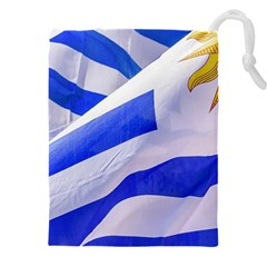 Uruguay Flags Waving Drawstring Pouch (5xl) by dflcprintsclothing