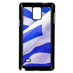 Uruguay Flags Waving Samsung Galaxy Note 4 Case (black) by dflcprintsclothing