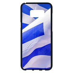 Uruguay Flags Waving Samsung Galaxy S8 Plus Black Seamless Case by dflcprintsclothing