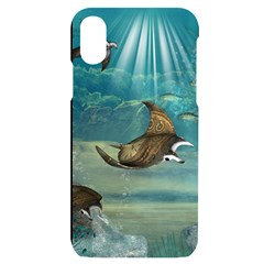Awesome Steampunk Manta Rays Iphone X/xs Black Uv Print Case