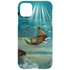 Awesome Steampunk Manta Rays Iphone 11 Black Uv Print Case