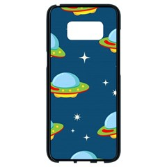 Seamless Pattern Ufo With Star Space Galaxy Background Samsung Galaxy S8 Black Seamless Case