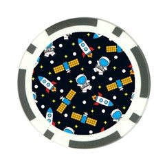 Seamless Adventure Space Vector Pattern Background Poker Chip Card Guard