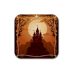 Beautiful Castle Rubber Square Coaster (4 Pack)