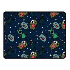 Monster Alien Pattern Seamless Background Double Sided Fleece Blanket (small)