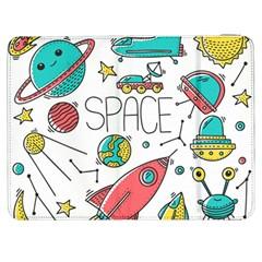 Space Cosmos Seamless Pattern Seamless Pattern Doodle Style Samsung Galaxy Tab 7  P1000 Flip Case by Vaneshart