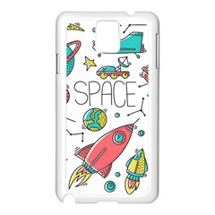 Space Cosmos Seamless Pattern Seamless Pattern Doodle Style Samsung Galaxy Note 3 N9005 Case (white)