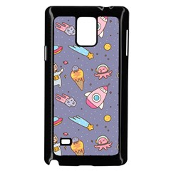 Outer Space Seamless Background Samsung Galaxy Note 4 Case (black) by Vaneshart