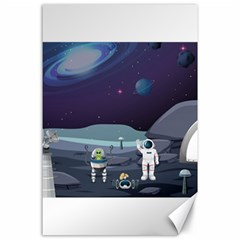 Alien Astronaut Scene Canvas 24  X 36