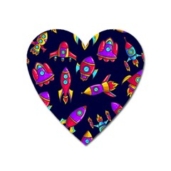 Space Patterns Heart Magnet by Vaneshart