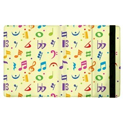 Seamless Pattern Musical Note Doodle Symbol Apple Ipad Pro 12 9   Flip Case by Vaneshart