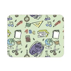Hand Drawn Pattern School Double Sided Flano Blanket (mini)