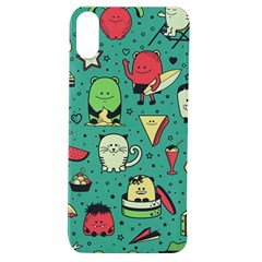 Seamless Pattern With Funny Monsters Cartoon Hand Drawn Characters Unusual Creatures Apple Iphone Xs Tpu Uv Case