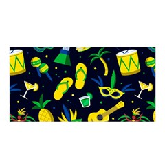 Seamless Brazilian Carnival Pattern With Musical Instruments Satin Wrap