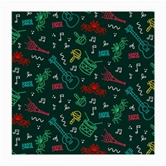 Guitars Musical Notes Seamless Carnival Pattern Medium Glasses Cloth (2 Sides)