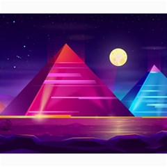 Egyptian Pyramids Night Landscape Cartoon Canvas 20  X 24  by Vaneshart