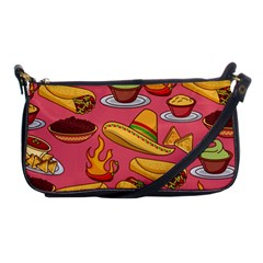 Seamless Pattern Mexican Food Hat Traditional Shoulder Clutch Bag