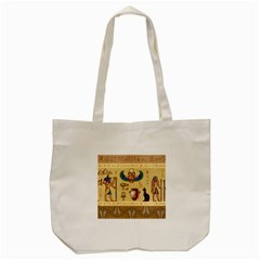 Egypt Horizontal Illustration Tote Bag (cream)