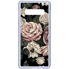 Elegant Seamless Pattern Blush Toned Rustic Flowers Samsung Galaxy S10 Plus Seamless Case(white) by Vaneshart