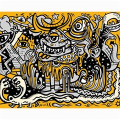 Crazy Abstract Doodle Social Doodle Drawing Style Canvas 16  X 20  by Vaneshart