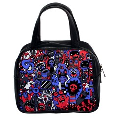 Cute Halloween Monsters Set Background Classic Handbag (two Sides)