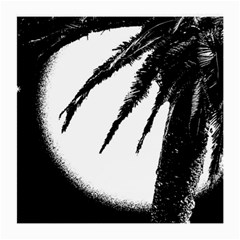 Black And White Tropical Moonscape Illustration Medium Glasses Cloth