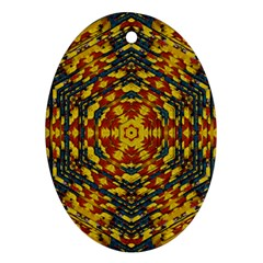 Yuppie And Hippie Art With Some Bohemian Style In Ornament (oval) by pepitasart